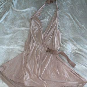 Free people mini wrap Dress size large